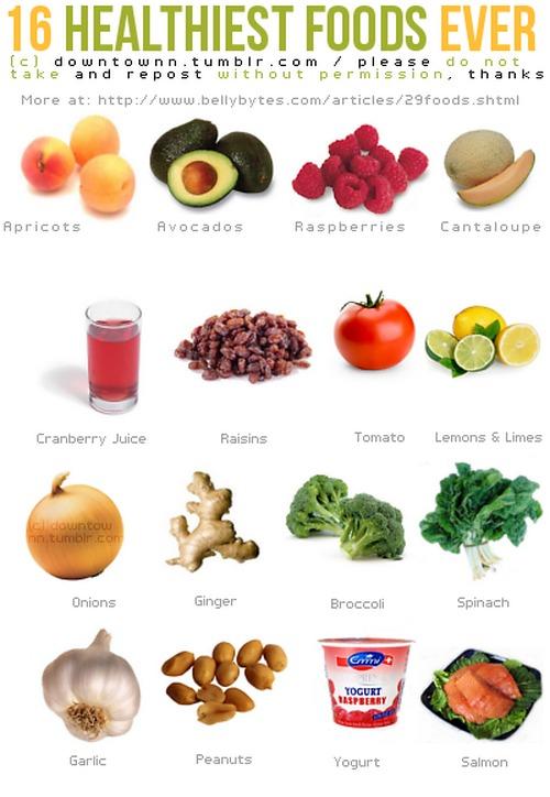 16 самых полезных продуктов