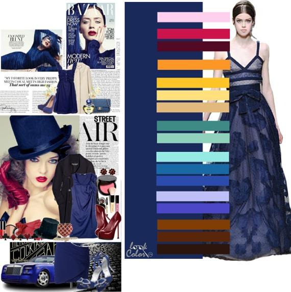 Сочетание синего цвета с другими цветами в интерьере фото