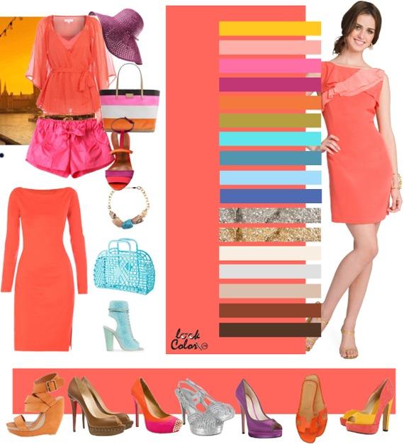 Коралловый розово-оранжевый