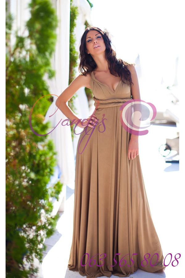 Платье трансформер золотое