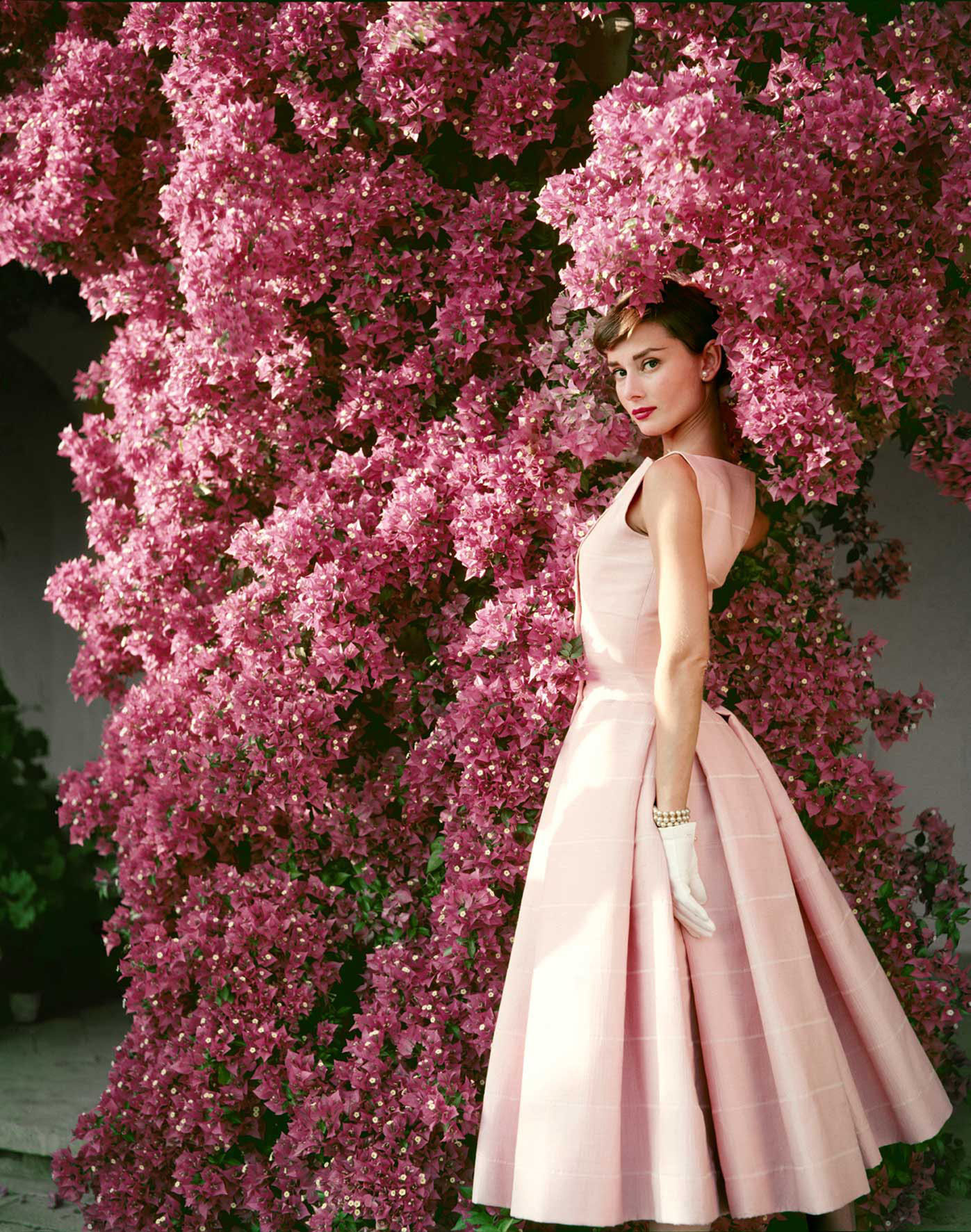 Девушка в розовых тонах
