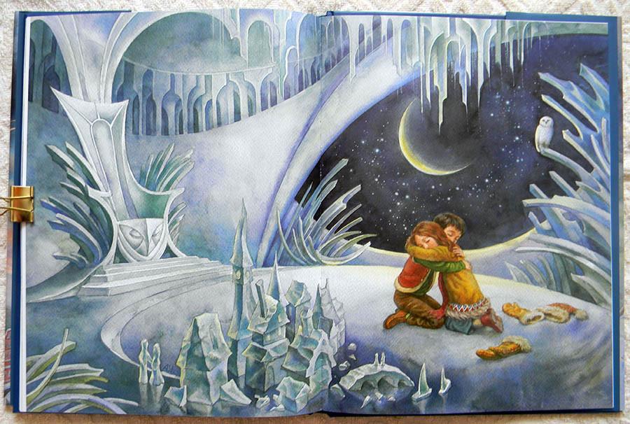 Детский рисунок к сказке снежная ко