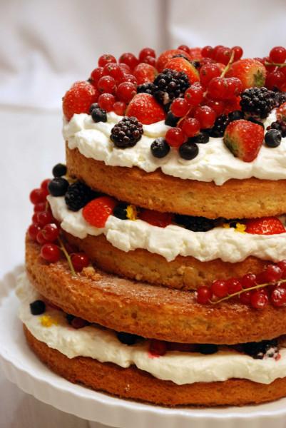 Бисквитный торт с ягодами рецепт с фото