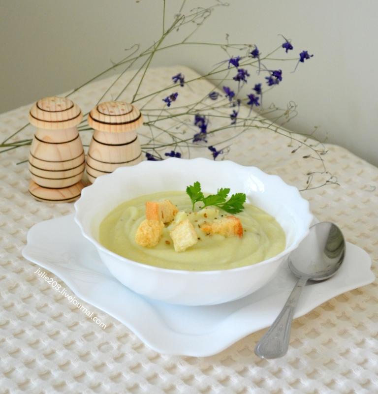 Суппюре из цветной капусты диетический  пошаговый рецепт