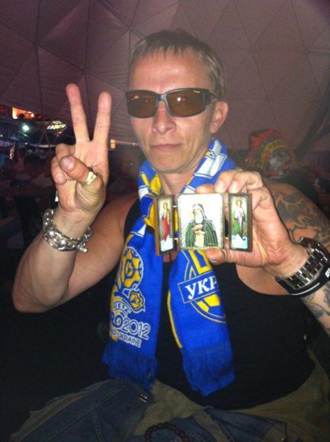 Иван Охлобыстин на Евро 2012