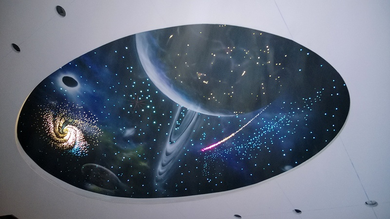 оригинально смотрится звездное небо