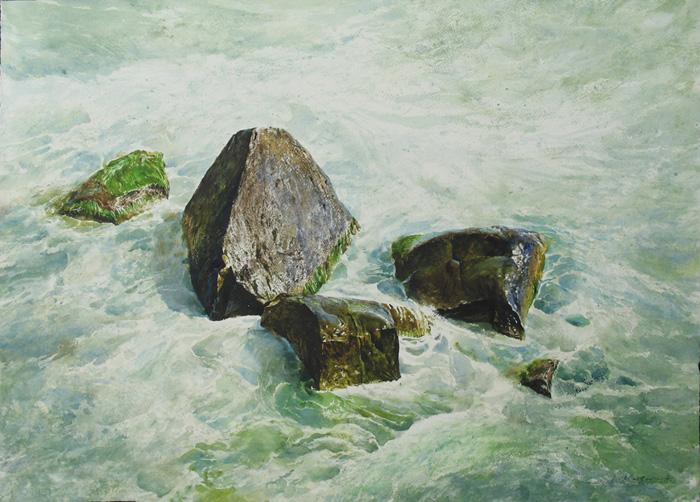 wet-rocks