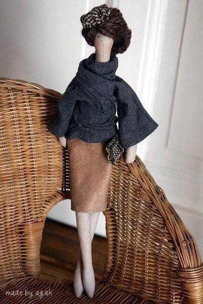 Очень стильные и современные куклы Тильда .