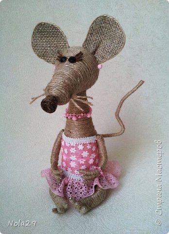 Невероятно милые мышки из жгута.