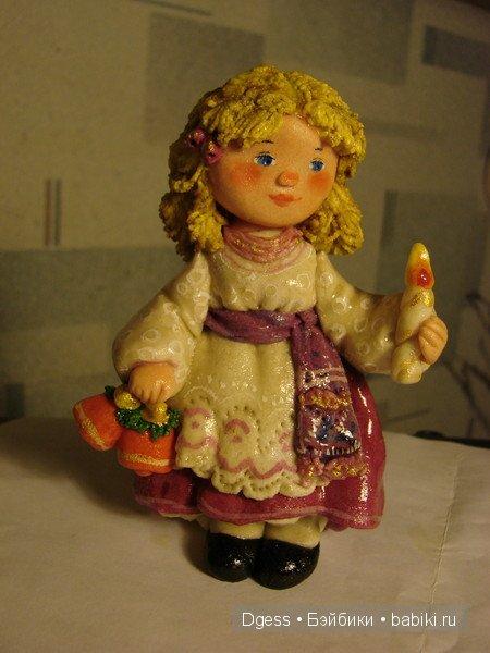 Куклы из солёного теста Валентины Петруниной.