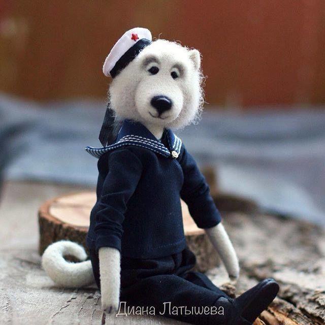 Собаки из войлока от Дианы Латышевой .