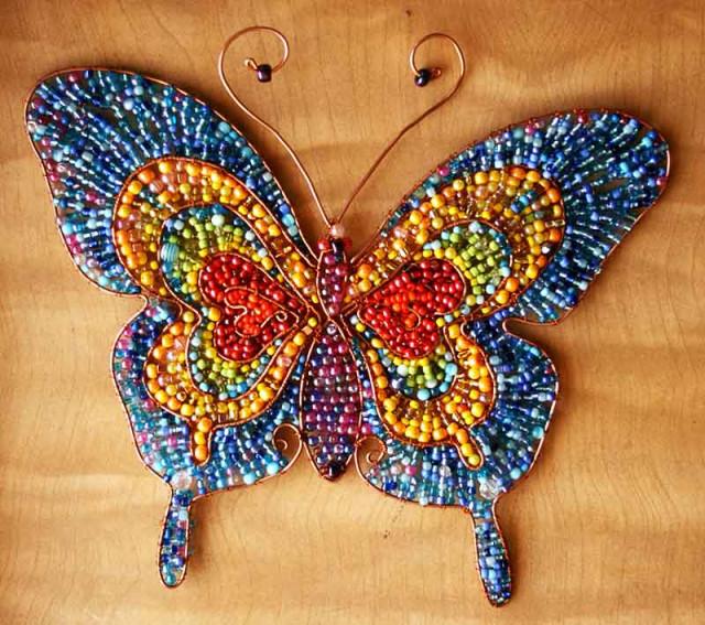 Бисерная бурёнка, рыбка, бабочка.... S640x480