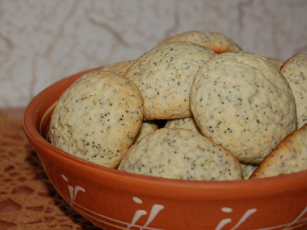 Лимонно-маковое печенье