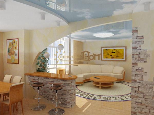 арка кухня-гостиная