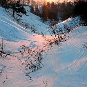 овраг снег