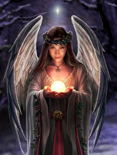 ангел с шаром