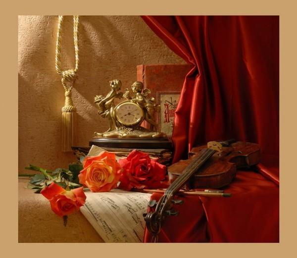 скрипка и розы