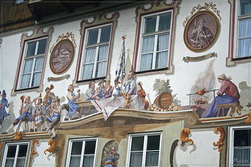 застолье - роспись стены