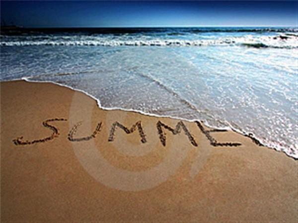 конец лета пляж