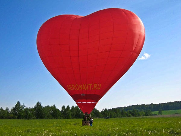 воздушный шар - сердечко