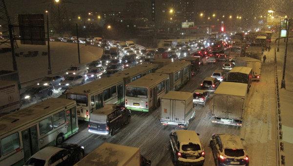 Зимний вечер машины