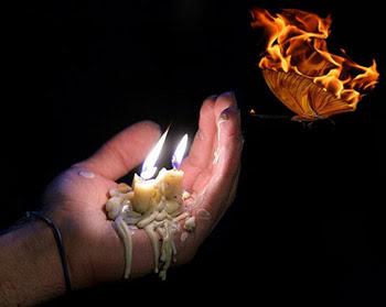 танец пламени свечи