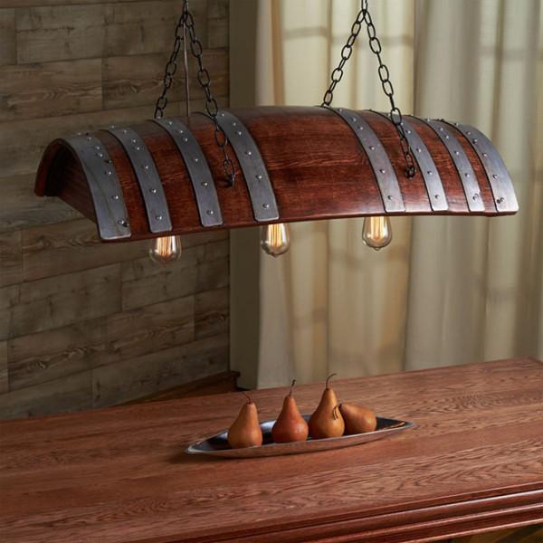 светильник из бочки
