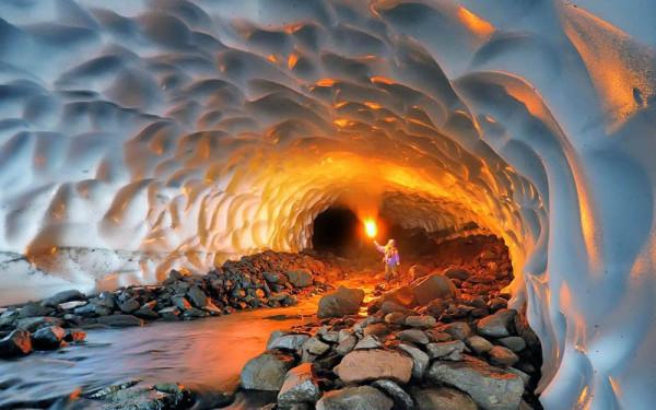 ледяная пещера камчатка