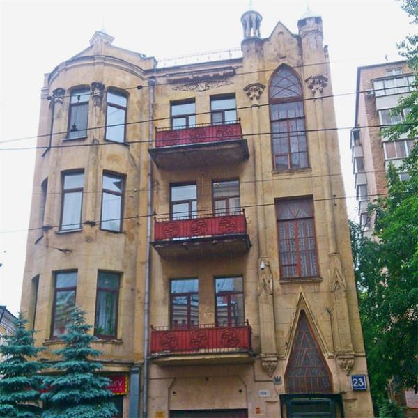 6а готический дом на бауманской