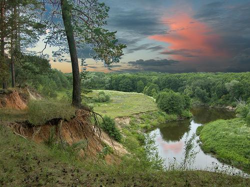 закат над хопром