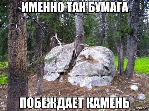 бумага побеждает камень