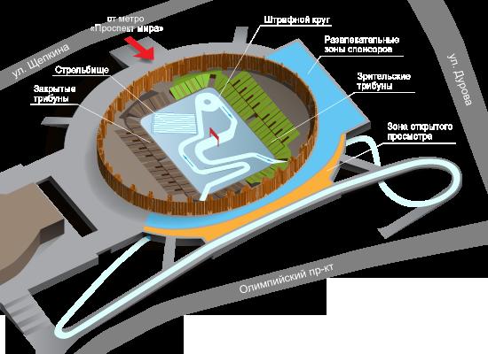 схема трассы