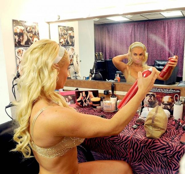 Nicole 'Coco' Austin Poses behind the scenes at her own Peepshow in Las Vegas 036