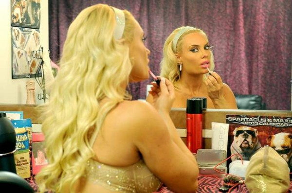 Nicole 'Coco' Austin Poses behind the scenes at her own Peepshow in Las Vegas 037