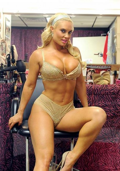 Nicole 'Coco' Austin Poses behind the scenes at her own Peepshow in Las Vegas 043