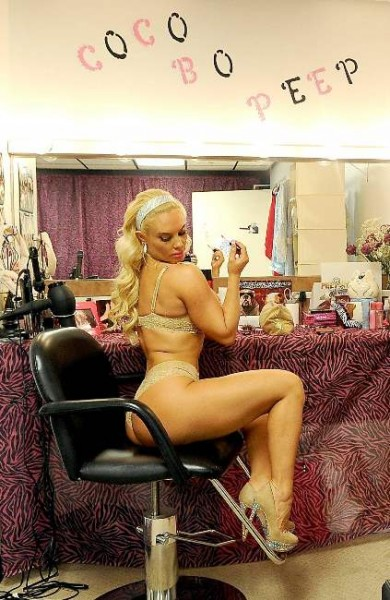 Nicole 'Coco' Austin Poses behind the scenes at her own Peepshow in Las Vegas 055