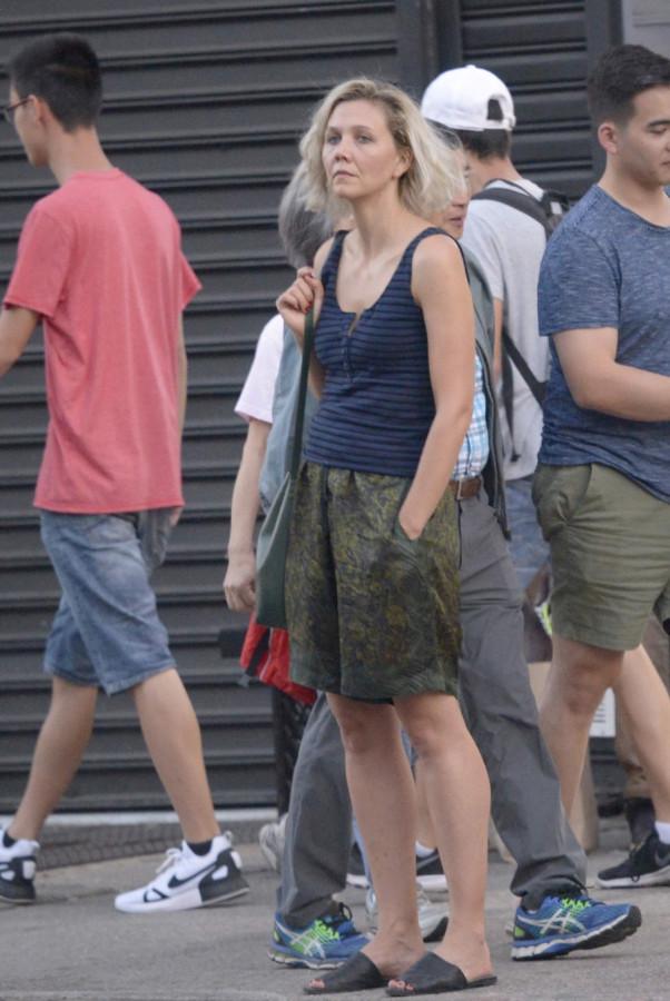 Уличный стиль Мэгги Джилленхол