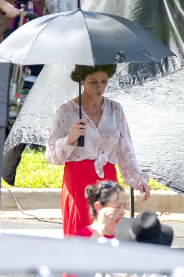 Кэтрин Зета-Джонс на работе shooting