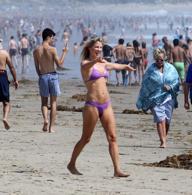 Эли Лартер на пляже Лартер, прошлой, неделе, время, отдыха, пляже, Малибу
