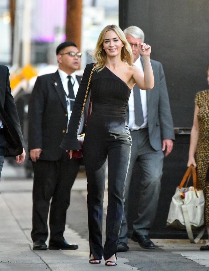 Эмили Блант перед съемками в тв-шоу твшоу, Jimmy, Kimmel, съемками, перед, Блант, среду, ЛосАнджелесе, Эмили