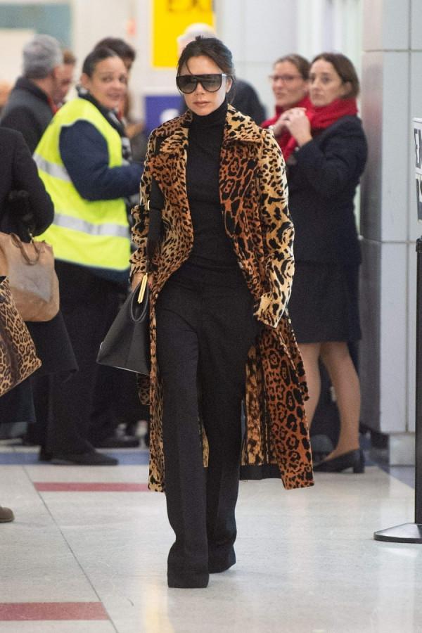 Виктория Бекхэм в JFK airport