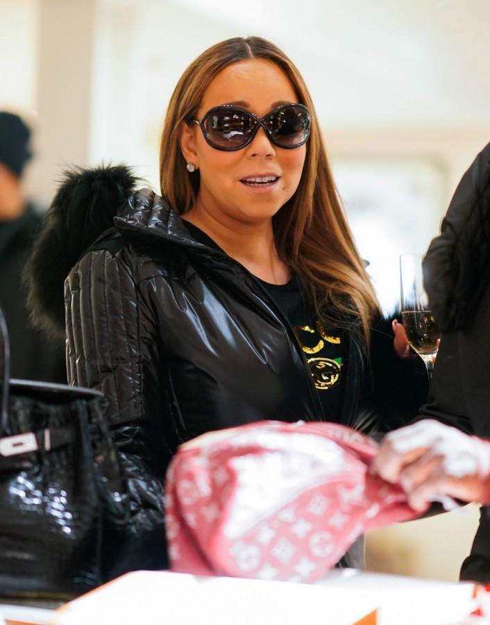 Мэрайя Кэри на шопинге в Аспене