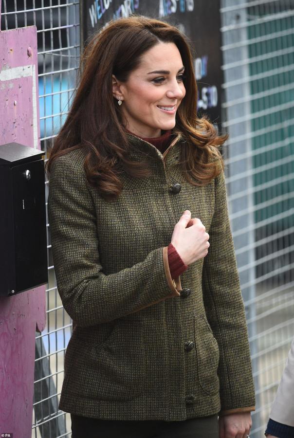 Кейт Миддлтон посетила сад короля Генриха