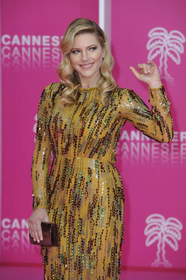 Кэтрин Винник на фестивале Canneseries