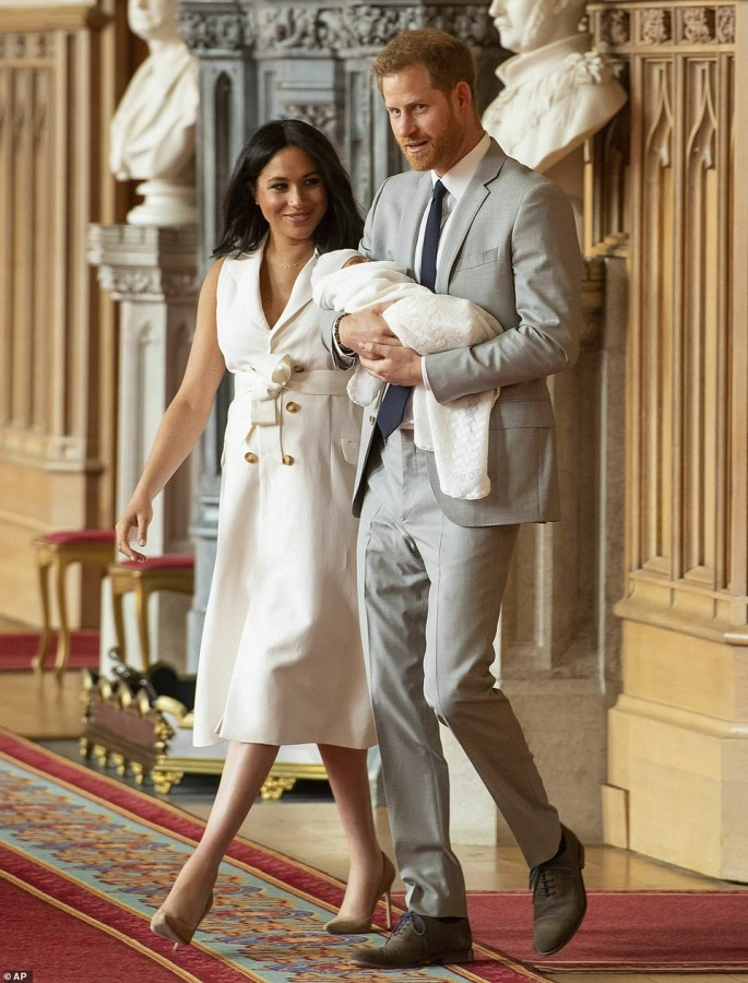Первые официальные фото сына Меган Маркл и принца Гарри meghan markle,prince harry,babyboom