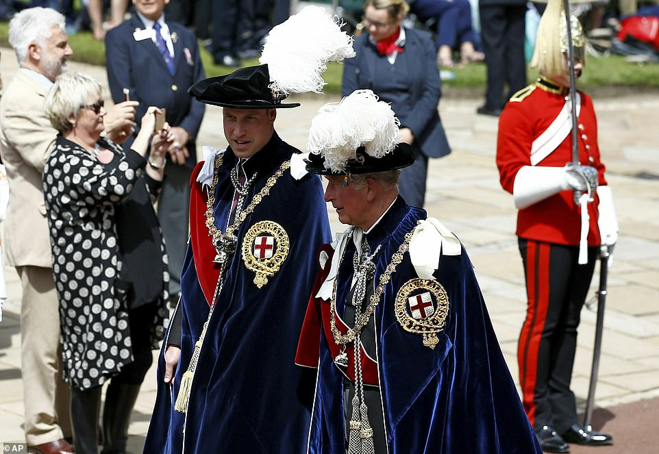 Европейские монархи на церемонии Ордена Подвязки kate middleton,prince william,elizabeth ii