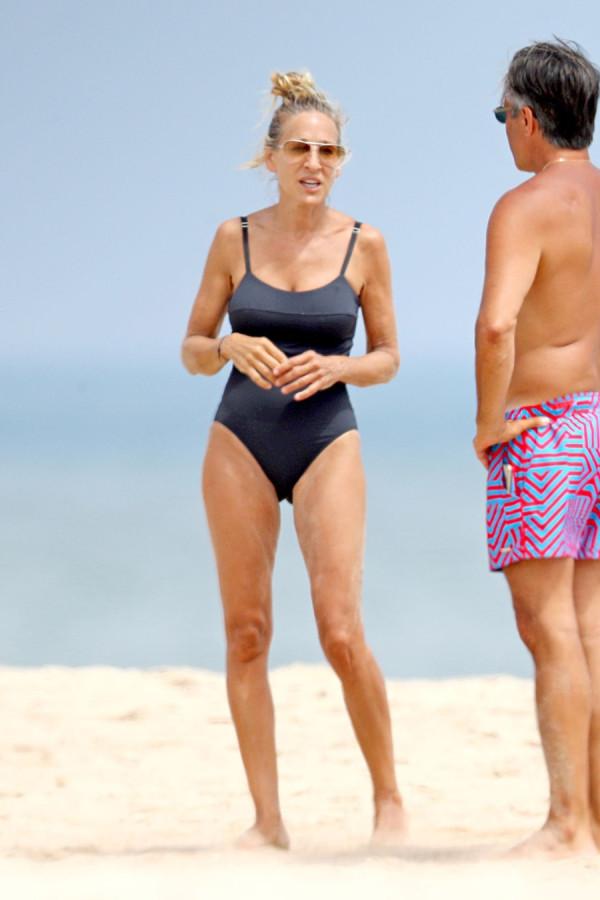 Сара Джессика Паркер на пляже
