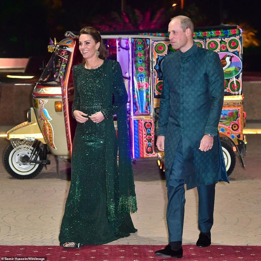 Герцоги Кембриджские на приеме в Пакистане