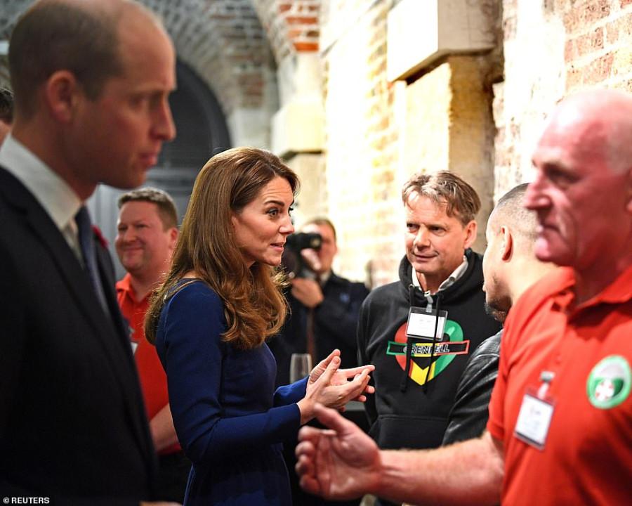 Герцог и герцогиня Кембриджские на открытии National Emergencies Trust