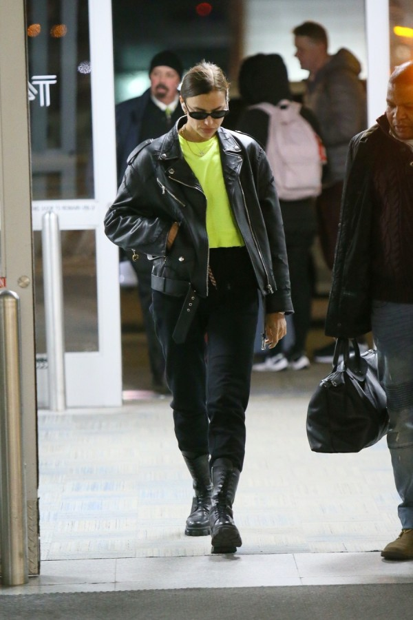 Ирина Шейк в JFK irina shayk,airport